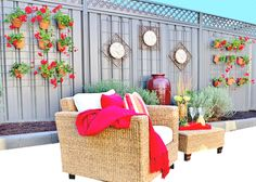 Hide your ugly fence. There is nothing simpler around to create your own vertical garden, particularly for Colorbond fence. Diy Garden, Garden Trellis, Garden Ideas, Fence Ideas, Diy Pallet Furniture, Outdoor Furniture Sets, Outdoor Decor, Outdoor Ideas, Garden Solutions