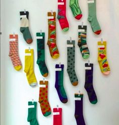 Socks a plenty #bonnemaison Photo by @galeriepen. Available to buy at The Natural Shoe Store.