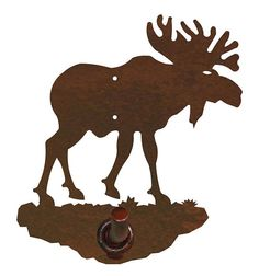 Original Moose Bath Accessories Steel over by CabinExclusive Rustic Wall Hooks, Bronze Patina, Decorative Towels, Bath Accessories, Metal Walls, Wrought Iron, Moose Art, Things To Come, Display