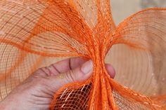 fall decoration for mail box | Miss Kopy Kat: How To Make A Deco Mesh Pumpkin