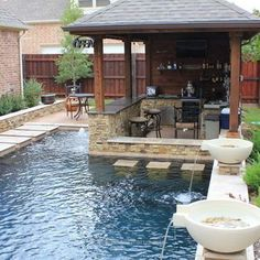 Summer Pool Bar Ideas to Impress Your Guests Small Backyard Pools Design Ideas - love this little swim-up bar!Small Backyard Pools Design Ideas - love this little swim-up bar! Backyard Pool Designs, Small Backyard Design, Small Backyard Pools, Small Pools, Outdoor Kitchen Design, Swimming Pool Designs, Outdoor Kitchens, Small Backyards, Outdoor Cooking
