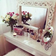 30 Super Ideas Makeup Vanity Ideas Beauty Room Make Up Make Up Storage, Glam Room, Makeup Rooms, Room Goals, Home And Deco, Room Inspiration, Sweet Home, Bedroom Decor, Face Products