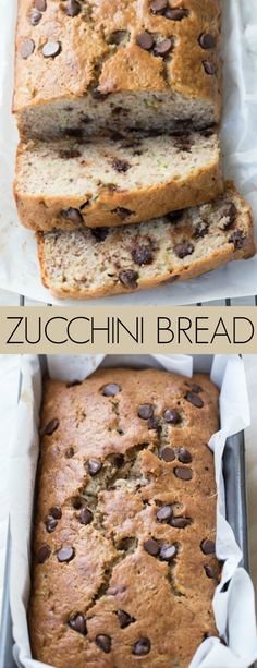 Soft, warm and moist banana zucchini bread with chocolate chip morsels. The best chocolate zucchini bread recipe. #zucchinibread #bananazucchinibread #chocolate #chocolatezucchinibread