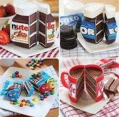 una #duda existencial... ¿Cuál de estas #tartas elegir...? #kitkat #oreo #mm o #nutella Difícil elección... #docsity #recetas