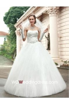 Cheap Tulle Beaded Ball Gown Wedding Dress - Beautiful Wedding Dresses Online Wholesaler and Retailer $267nzd not sure costs for freight.