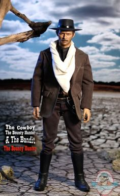 1/6 Scale The Bounty Hunter Outfit Set for 12 inch Figures by Iminime | Man of Action Figures