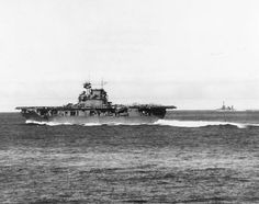 USS Enterprise (CV-6) prepares to launch her ill-fated torpedo squadron on the morning of 4 June 1942. The avenging dive bombers are already in the air.