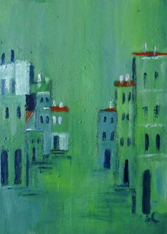 Buy Street in Turquoise, 3, Rijeka, oil on wood, 21 x 30 cm, Oil painting by Ingrid Knaus on Artfinder. Discover thousands of other original paintings, prints, sculptures and photography from independent artists.