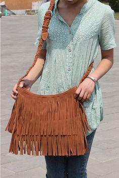 Suede Fringe Tassel Shoulder Bag women's fashion handbag Satchel HOBO Bags