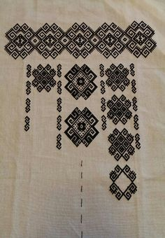 Ukraine, from Iryna Cross Stitch Samplers, Cross Stitch Charts, Cross Stitching, Folk Embroidery, Embroidery Designs, Folk Clothing, Embroidered Clothes, Bargello, Tatting