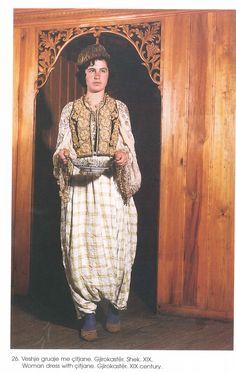 Albanian Folk Costumes - Veshje Popullore Shqiptare. Woman dress with citjane. Gjirokastër. XIX century