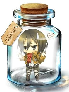 Someone put a little eren in the bottle so she'll be happy