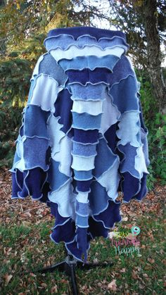 Wool Hooded Poncho & Matching Arm Warmers by SewFreakinHappy