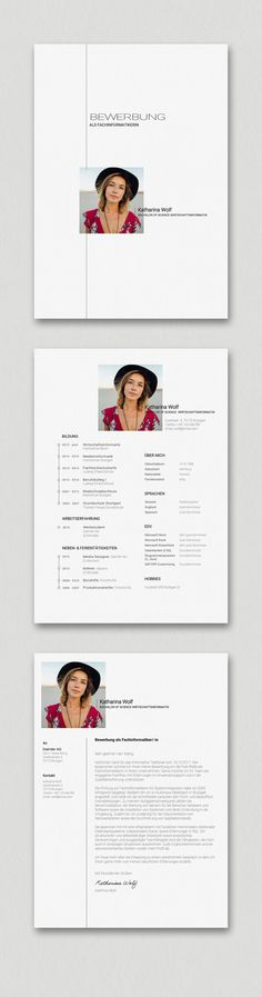 Bewerbung A bit simpler but still high quality and special. Our Katharina Wolf application template Microsoft Word, Cv Design, Resume Design, Wolf Design, Design Model, Modern Design, Resume Tips, Resume Cv, Resume Examples