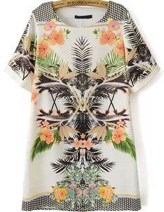 Leaves Print Bodycon Dress