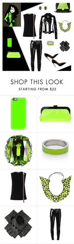 """""""Dress A Supervillain Contest"""" by deepwinter ❤ liked on Polyvore featuring Casetify, Nina, Kenny & Co., Christopher Kane, Annelise Michelson, MuuBaa, Versace, Christian Louboutin, disney and kimpossible"""