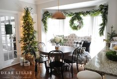 Rental - Christmas Breakfast Nook and Some More Touches to the Guest Room - Dear Lillie Studio Guest Bedrooms, Guest Room, Decor Interior Design, Interior Decorating, Holiday Decorating, Days Until Christmas, Merry Christmas, Xmas, Dear Lillie