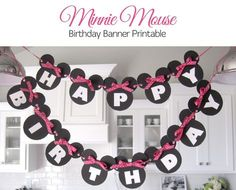 Minnie Mouse Birthday Banner Printable