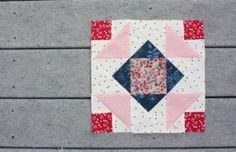 For those of you sewing along in the Summer Sampler series, my block, Corner Canyon, was emailed out this morning. Here is my version of that block. You can find out more about the Summer Sampler seri