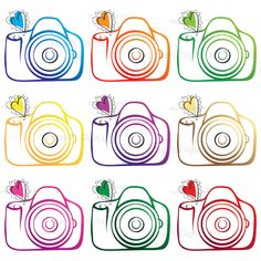 Digital Clip Art Clipart Camera Photographer Photography Logo Elements Scrapbooking Supplies Photo Personal Small Commercial Use 10208. $7.20, via Etsy.