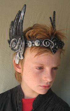 This is actually a picture of my son Finnes when he was much younger!! Valkyrie circlet by Organic Armor