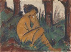 Otto Müller | Nude in Landscape (Akt in Landschaft) | Virginia Museum of Fine Arts | Buy Prints Online
