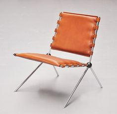 Paul Schneider-Esleben, chair PSE 58, designed for the Mannesmann Hochhaus in Düsseldorf, 1958/59. Made by Kauffeld, Germany