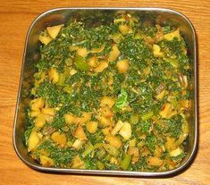 Turnip with turnip greens - 1 bunch Onion - 1 (diced)   Garlic - 2 clove (crushed) Green Chilly - 2 (minced)  Coconut - ¼ cup (Grated)  Mustard - ¼ tsp  Split black gram - ¼ tsp  Turmeric powder - 1 pinch Asafoetida - 1 pinch  Curry leaves, Salt, Oil