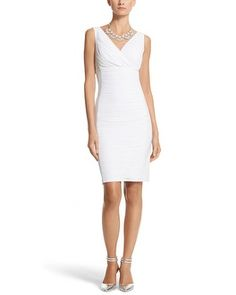 White House | Black Market Instantly Slimming Sleeveless Ruched Dress #whbm - for my winter engagement party