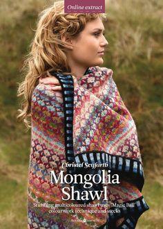 Mongolia shawl. Modèle de Christel Seyfarth. The Knitter 44 avril 2012.