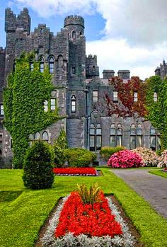 Enjoy the views of the lush and extremely well maintained #gardens at #Ashford Castle.