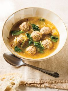 Meatball and Spaghetti Squash Soup | Ricardo