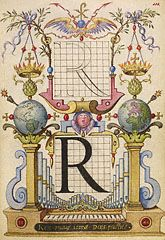 Guide for Constructing the Letter R (Getty Museum)