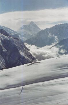 Skiing, Auli in the Himalaya Mountains (Nanda Devi Peak in the background, 7817m), India    Vinod G. via Lonely Planet