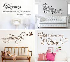 Scritte alle pareti di casa - sempre di gran effetto. Decorazioni per il soggirono Home Decor, Houses, Decoration Home, Room Decor, Home Interior Design, Home Decoration, Interior Design