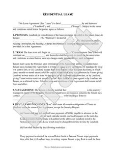 Free Copy Rental Lease Agreement  Lease Agreement Pg  Create A