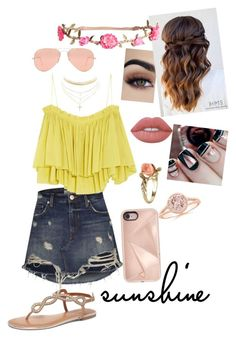 """""""Summer outfit"""" by lillyevans419 ❤ liked on Polyvore featuring Apiece Apart, H&M, Ray-Ban, Lime Crime, Vintage, Rebecca Minkoff, Dorothy Perkins and Charlotte Russe"""