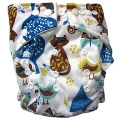 My favourite of the patterned nappies we have in stock at the moment!