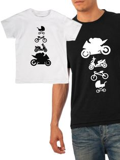 Matching father and son t-shirts, Motorbike shirts, Motorbike lover, Father and Son shirts, Dad and son tshirts, Fathers day gift idea