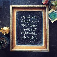 My favorite Thoreau quote. . . #thoreau #quote #quote #lettering #handlettering #calligraphy #chalk #chalkboard #sign #artist #words #literature #literary