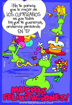 Todos andamos pensando en ti en tu cumpleaños Happy Birthday In Spanish, Free Happy Birthday Cards, Birthday Thank You, Happy Birthday Quotes, Happy Birthday Wishes, Tips To Be Happy, Bday Cards, Happy B Day, Funny Quotes