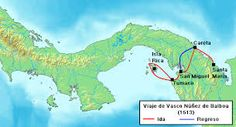 The Spanish adventure Vasco Nunez de Balboa with the help of Native Americans get pass through a huge body of water which he called the South Sea.This place is now called the Panama Channel.