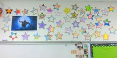 """""""Shoot for the moon, so that you land among stars"""" ~ theme for hopes and dreams display in Kathryn Voss's grade classroom this year. Stars Classroom, 5th Grade Classroom, Classroom Rules, Classroom Themes, Library Displays, Classroom Displays, Classroom Organization, Classroom Management, School Items"""