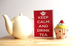 Keep Calm Cards - Keep Calm and Drink Tea - Paper Cut Card - Papercut Card - Papercutting - Tea Card - Teapot Card
