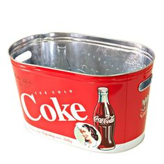 Bucket for bottles of Coca Cola - Casa Geek Coke, Coca Cola Decor, World Of Coca Cola, Wine Painting, Coffee Cans, Cute Pictures, Bucket, Geek Stuff, Bottle