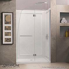 Dreamline Elegance Pivot Shower Door And 36x48 Inch Shower