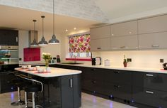 Pink Splashback (6mm behind the hob) & Window Sill (10mm)