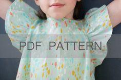 Angelica Blouse PDF girl blouse pattern girl top by JillyAtlanta