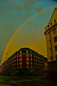 At the end of the rainbow: Arkadiankatu, my home street.  Photo by Jouni Jyllinmaa.