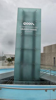 Exterior sign Merida, Picasa Web Albums, Atrium, Signage, Maya, Skyscraper, Multi Story Building, Exterior, Museums